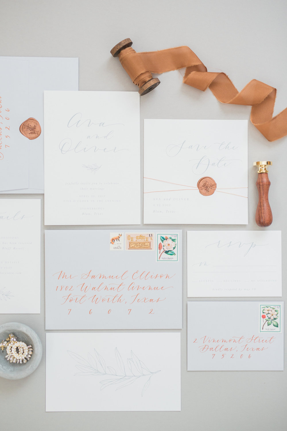 Copper Invitation Suite