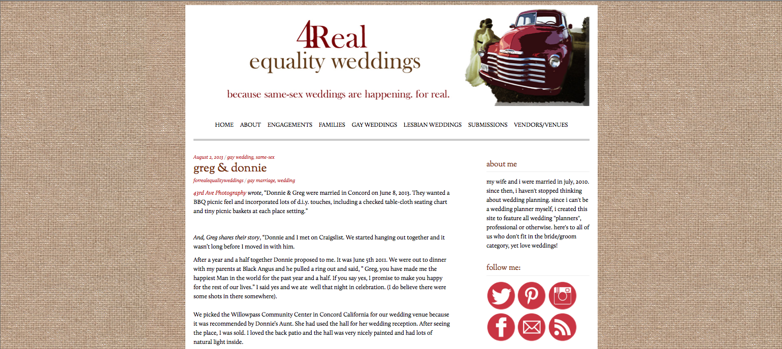 Published on 4Real Equality Weddings