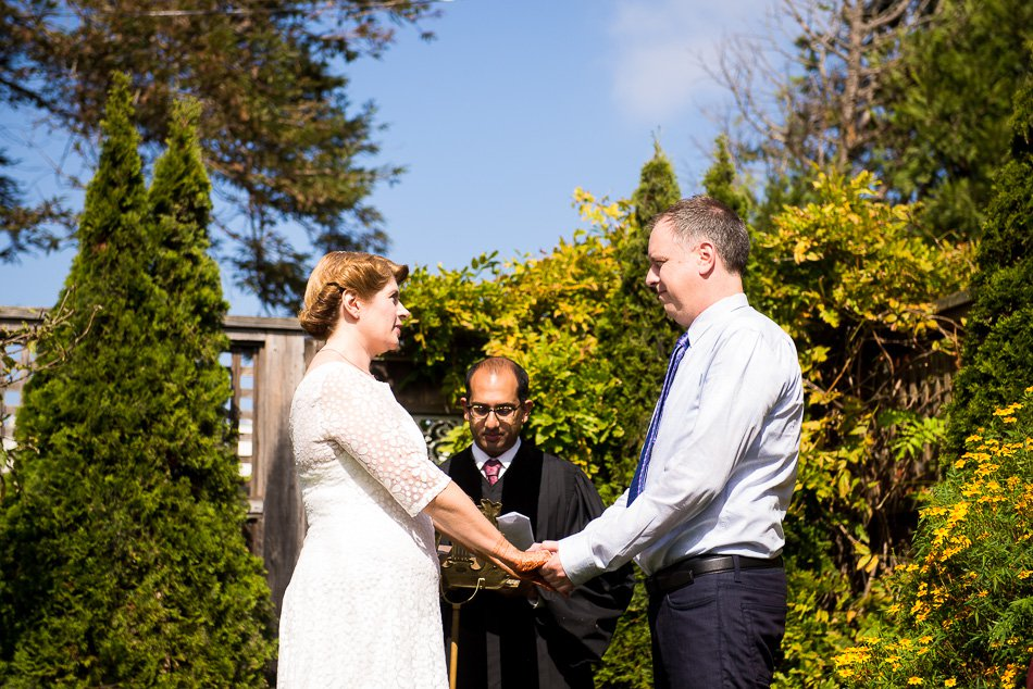San Francisco backyard wedding