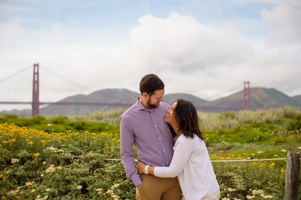 Couple laughing at Crissy Field
