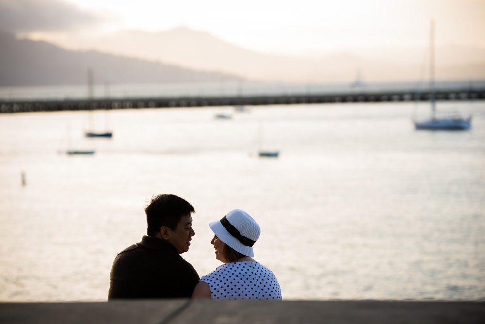 Couple at San Francisco marina