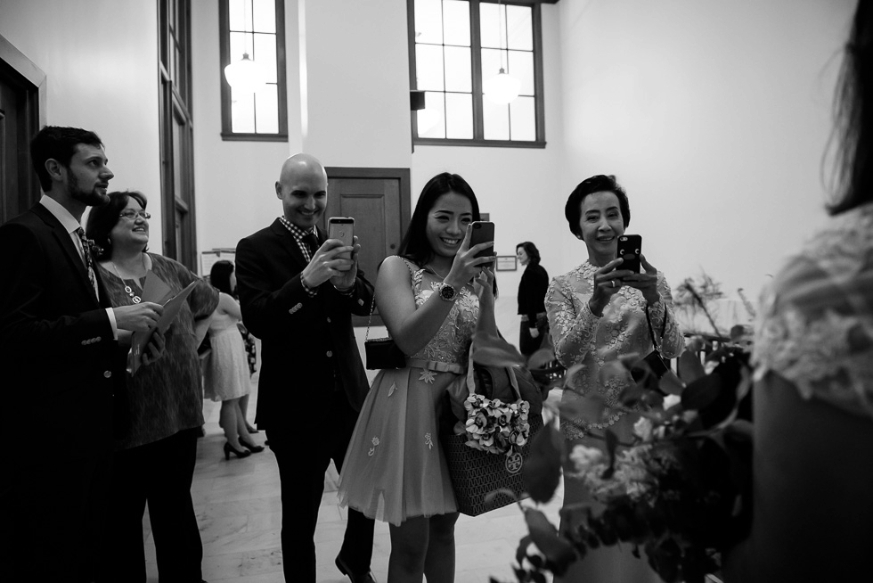 San Francisco City Hall candid wedding photography