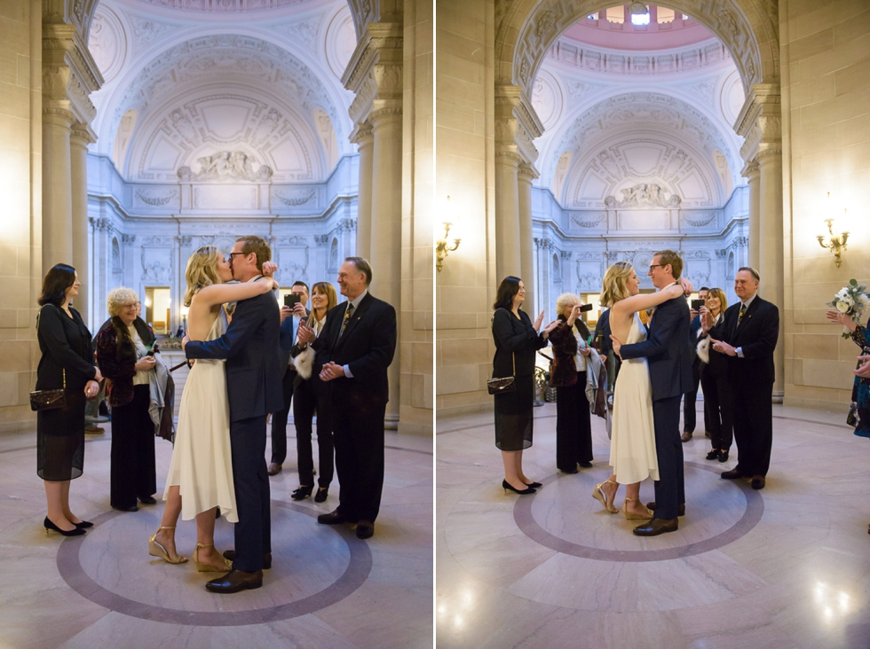 SF City Hall winter wedding
