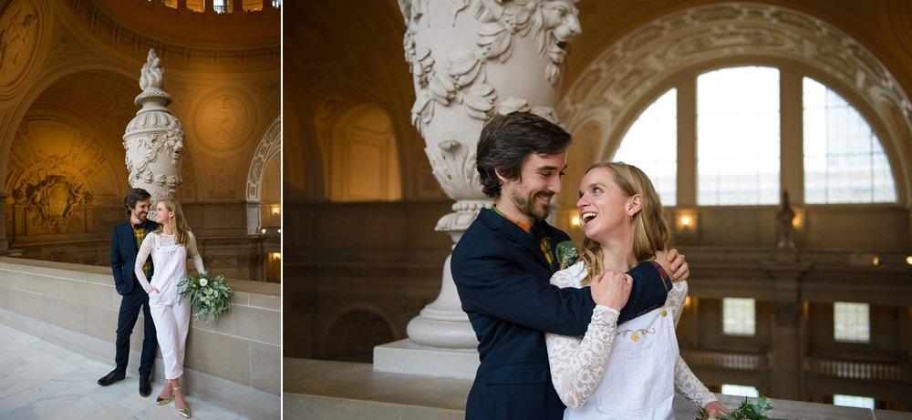 Non-traditional San Francisco City Hall wedding