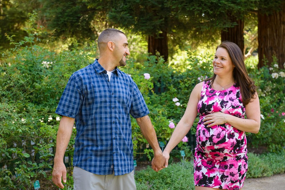 Elizabeth Gamble Garden maternity photography