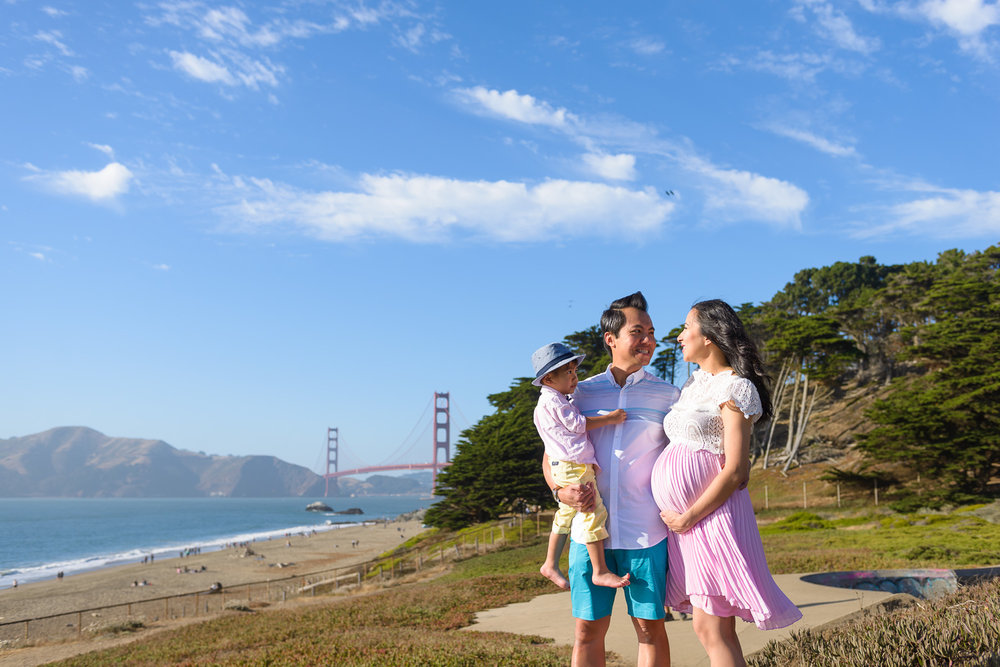 Baker Beach family photographer