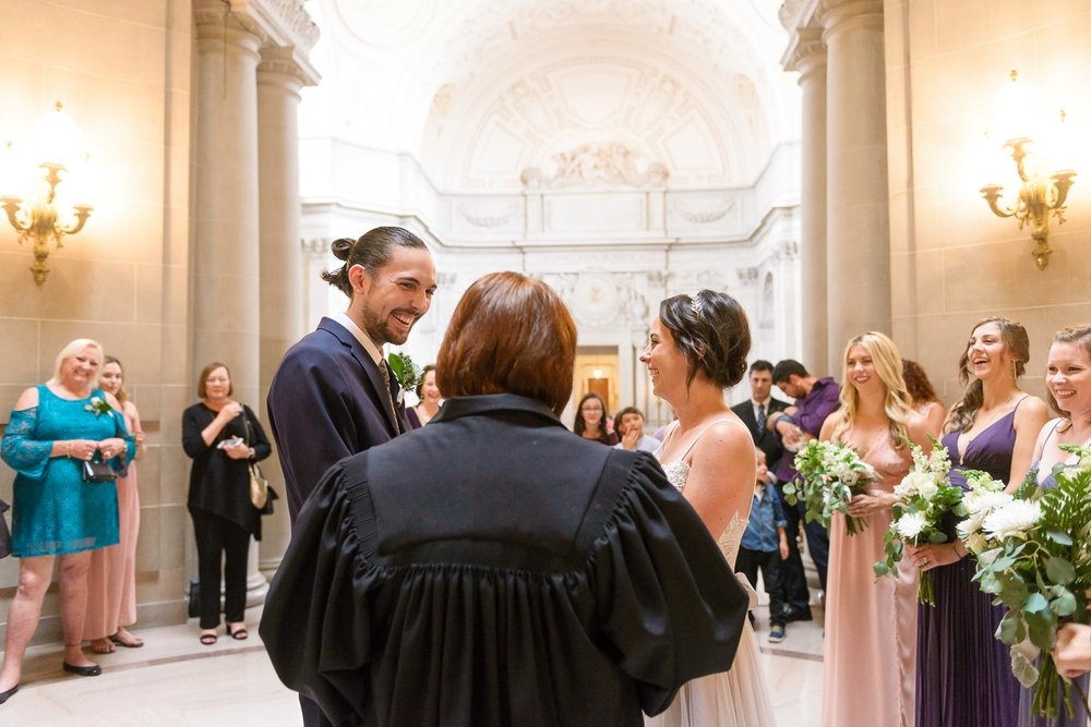 San Francisco City Hall wedding ceremony