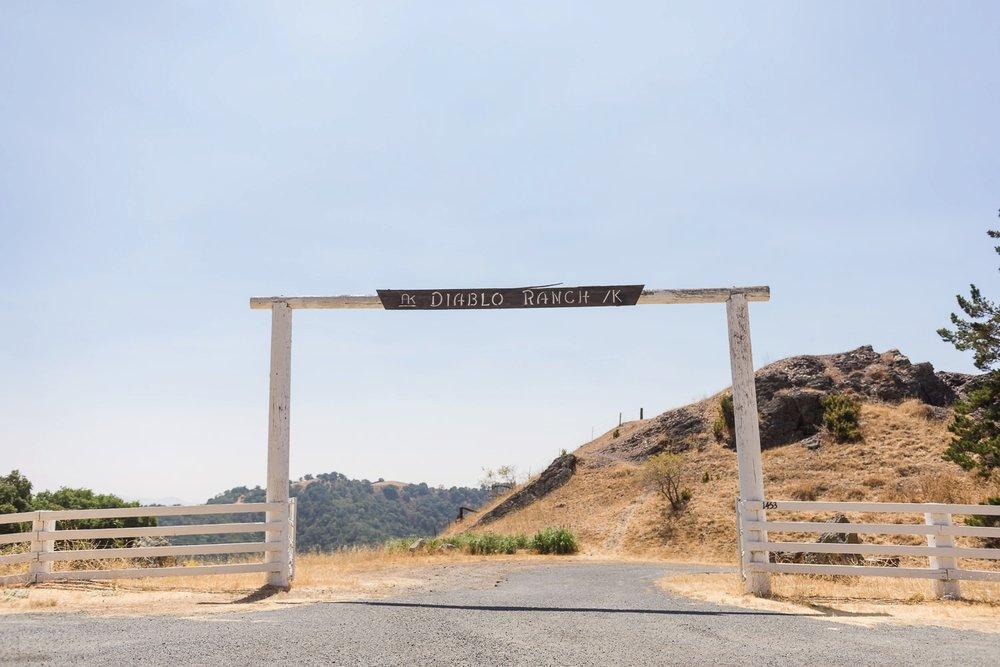 Ranch sign at entrance