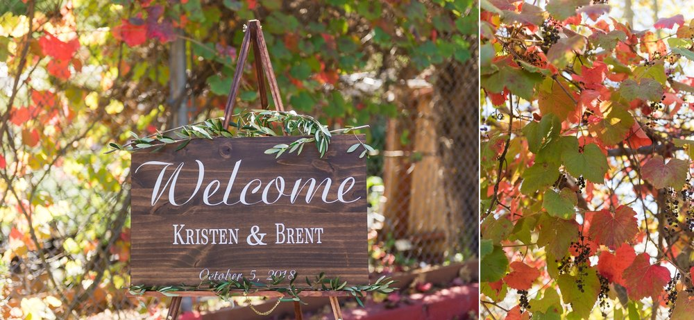 Custom wooden wedding sign with caligraphy