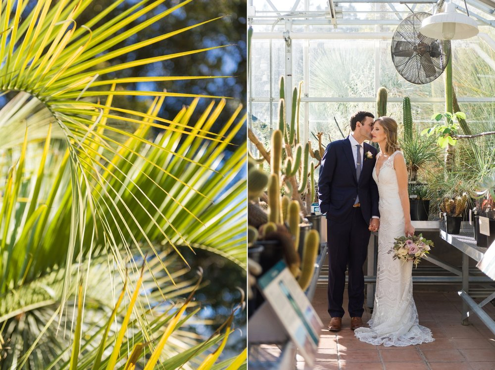 Berkeley Botanical Garden wedding portraits