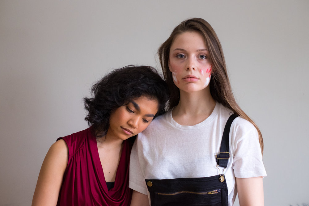 From Left: Belinda Corpuz as Janine, Hannah Whitmore as Valencia. Photo by Ryan Dillon.