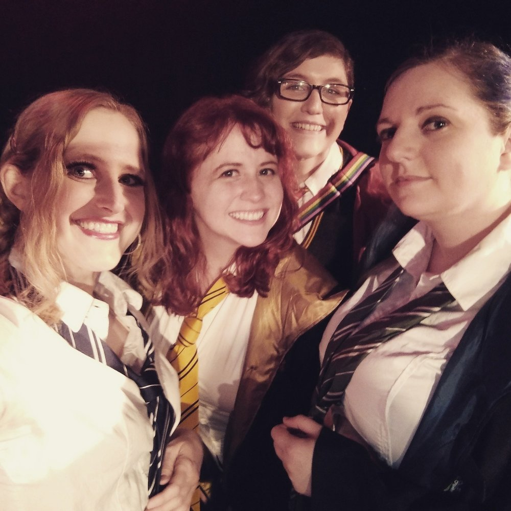 Maidens onstage selfie during curtain call at the Black Cat