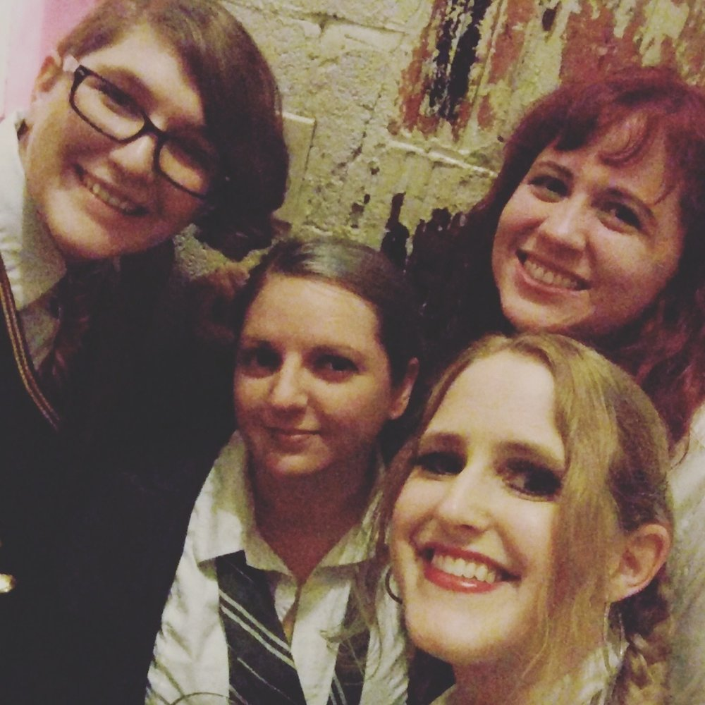 Mid-show selfie backstage at the Black Cat!
