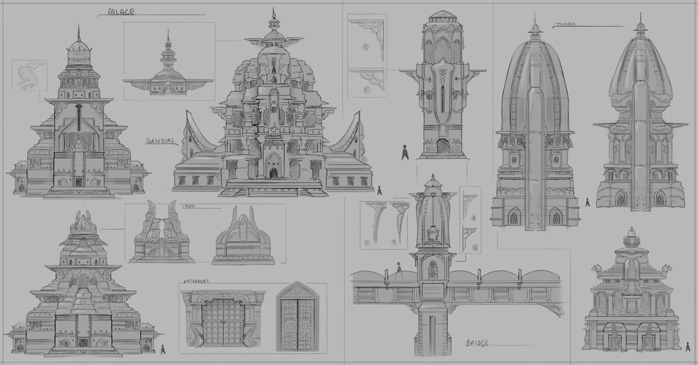 City building design sketches