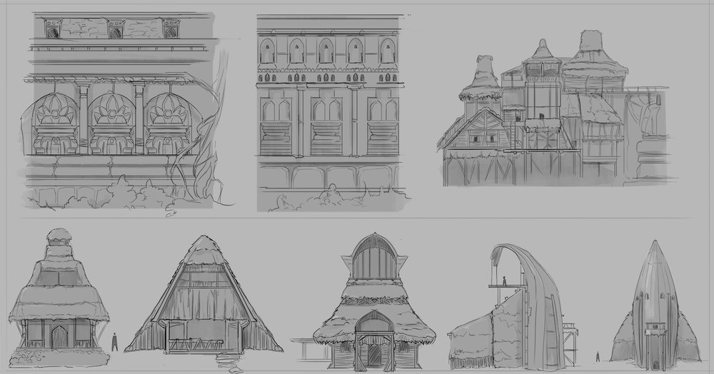 Design sketching for outer tribal constructs