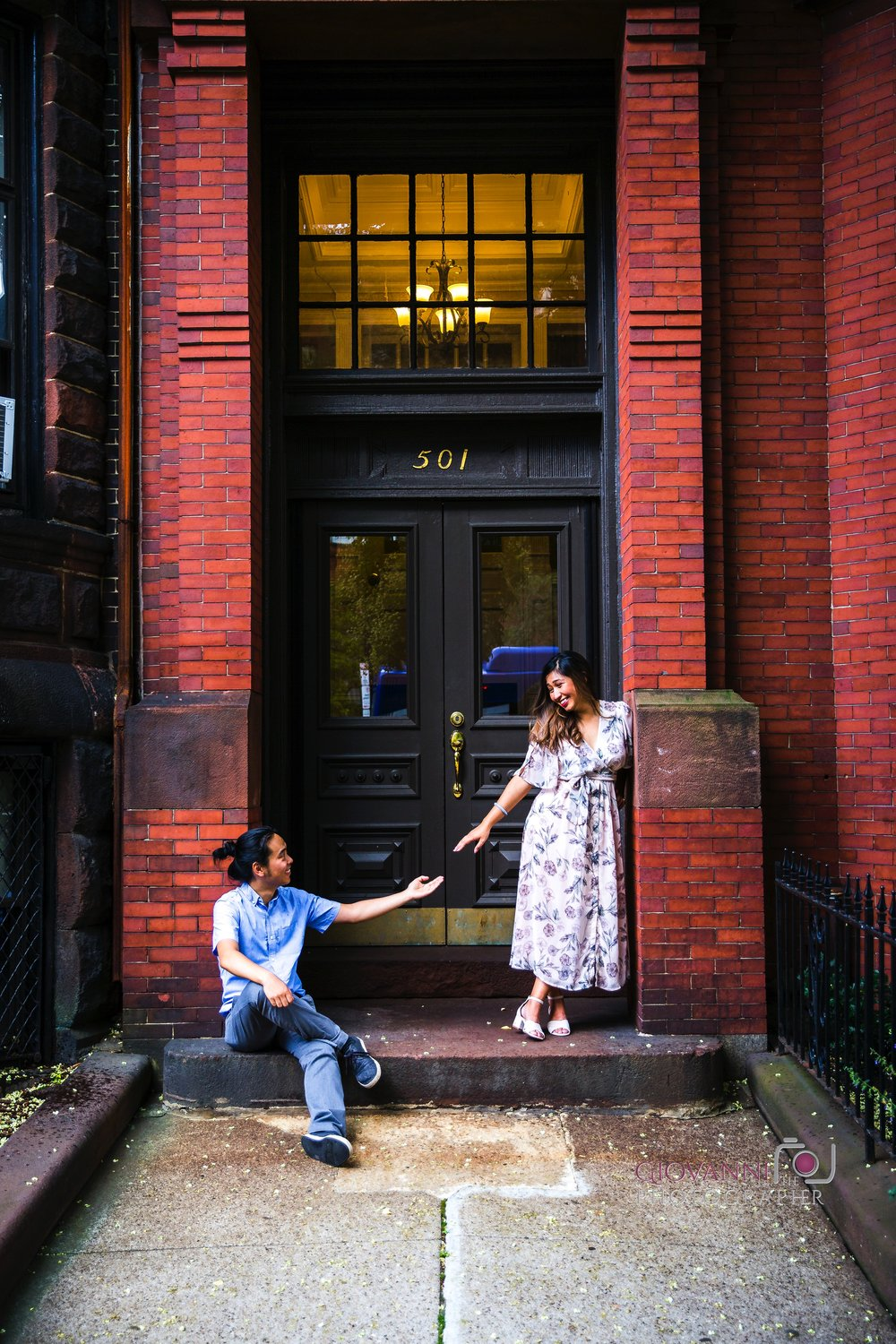 8C2A0317 Giovanni The Photographer Boston Engagement Session Mass Ave Street Photography Diana and Felix WM100.jpg
