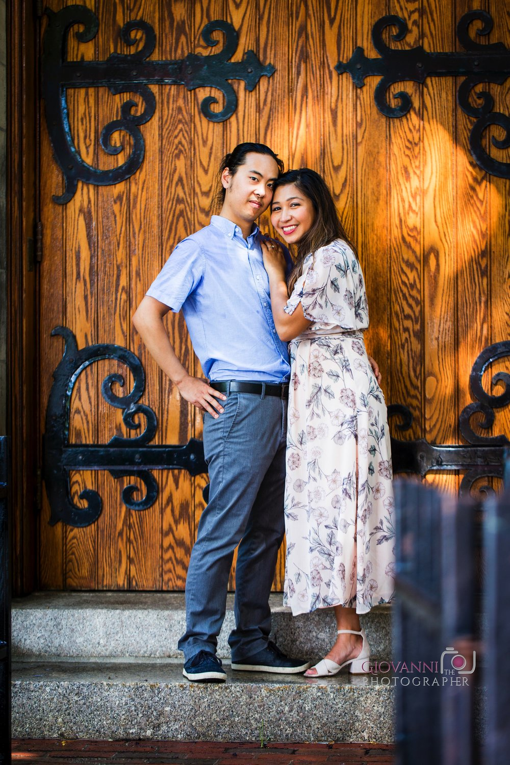 314A4554 Giovanni The Photographer Boston Engagement Session Mass Ave Street Photography Diana and Felix WM100.jpg