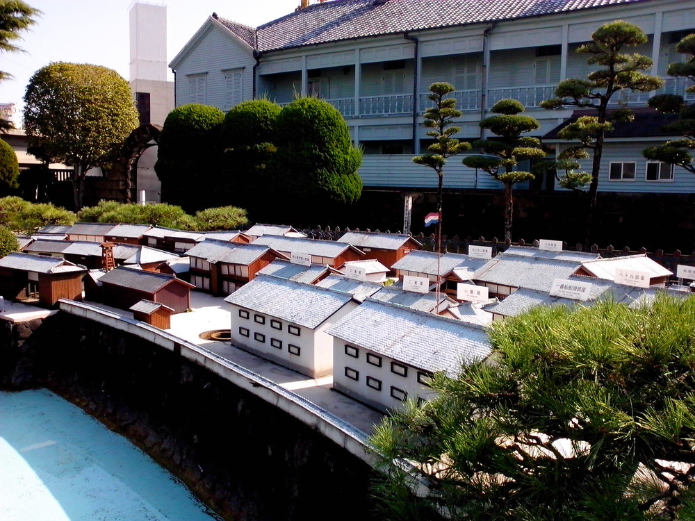 A model of Dejima Island in Nagasaki