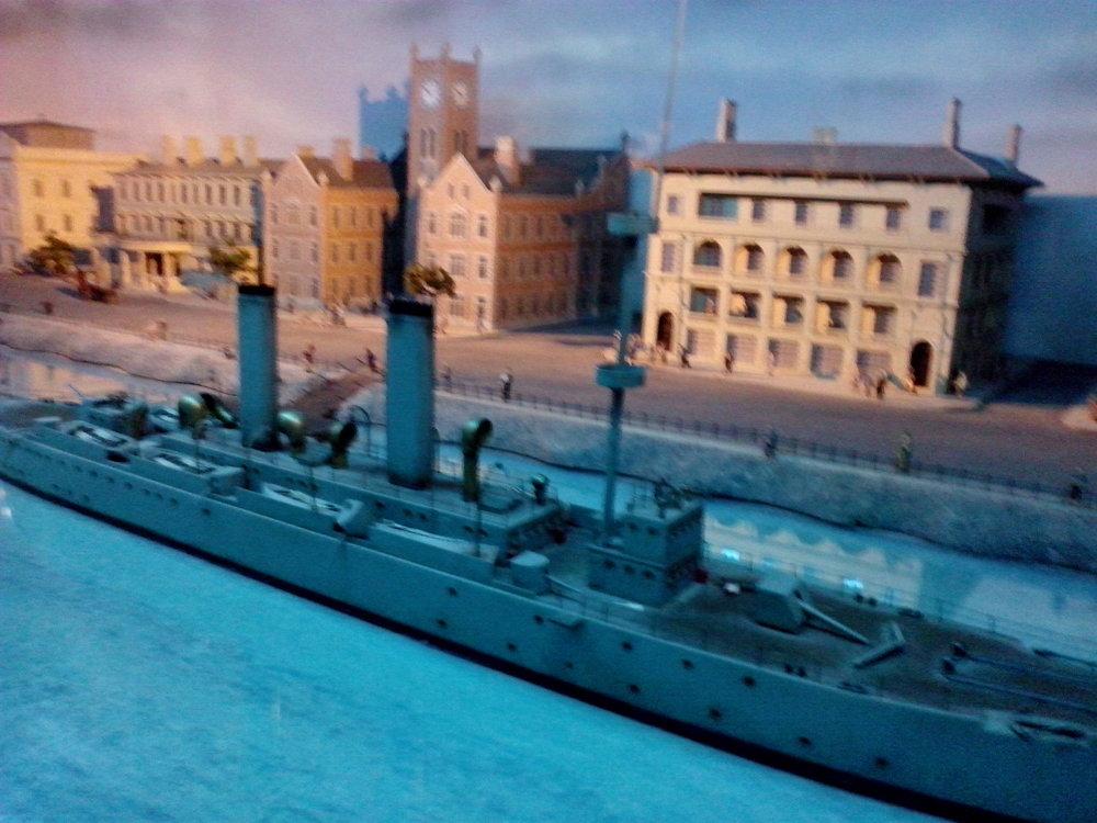 Gunboat on the bund - Shanghai History museum