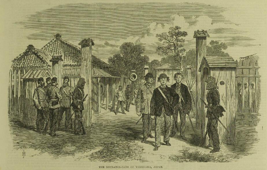 The Entrance Gate of Yokohama in 1868