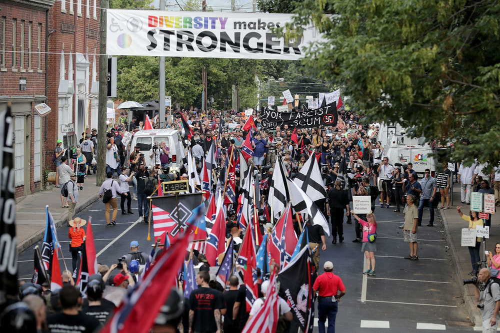 Charlottesville, VA during the rally and before the murder.
