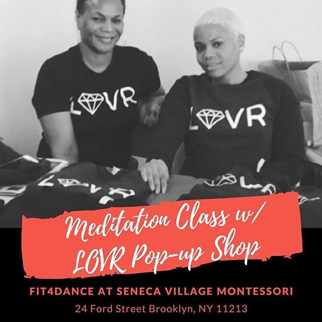 TONIGHT!! Sharing this from the LOVR Page. That's my mom, she hung out with me at our first pop up @rawspacenyc in Harlem. Repost @lovrbytc ・・・ Join us tonight in person or online. We will be streaming live on our IG @lovrbytc from @fit4dancenyc in Brooklyn!  If you're in NYC come meet our Founder, @createbytc in person as she leads a dope New Year's meditation and get some gear while you're there! win/win . . . . . . . . #meditation #mindfulness #yoginspo #yogiswithcurves #yogistyle #yogisunite #athleisure #newyearsmeditation #nycevents