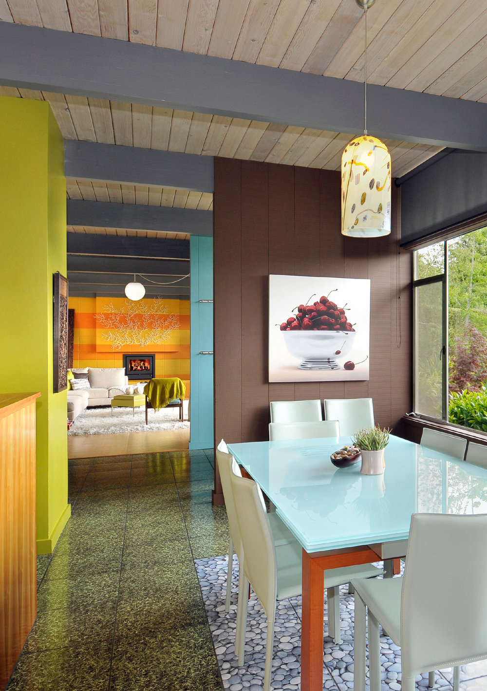 Modern Colorful Dining Room