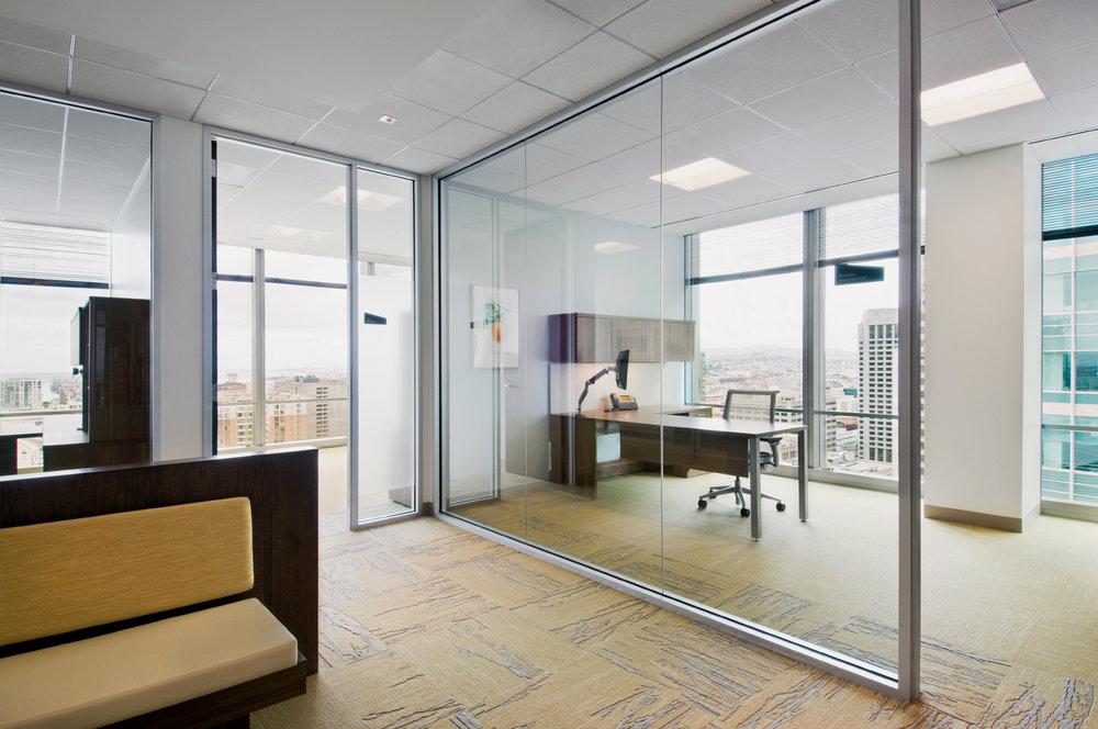 Glass Wall Office Design