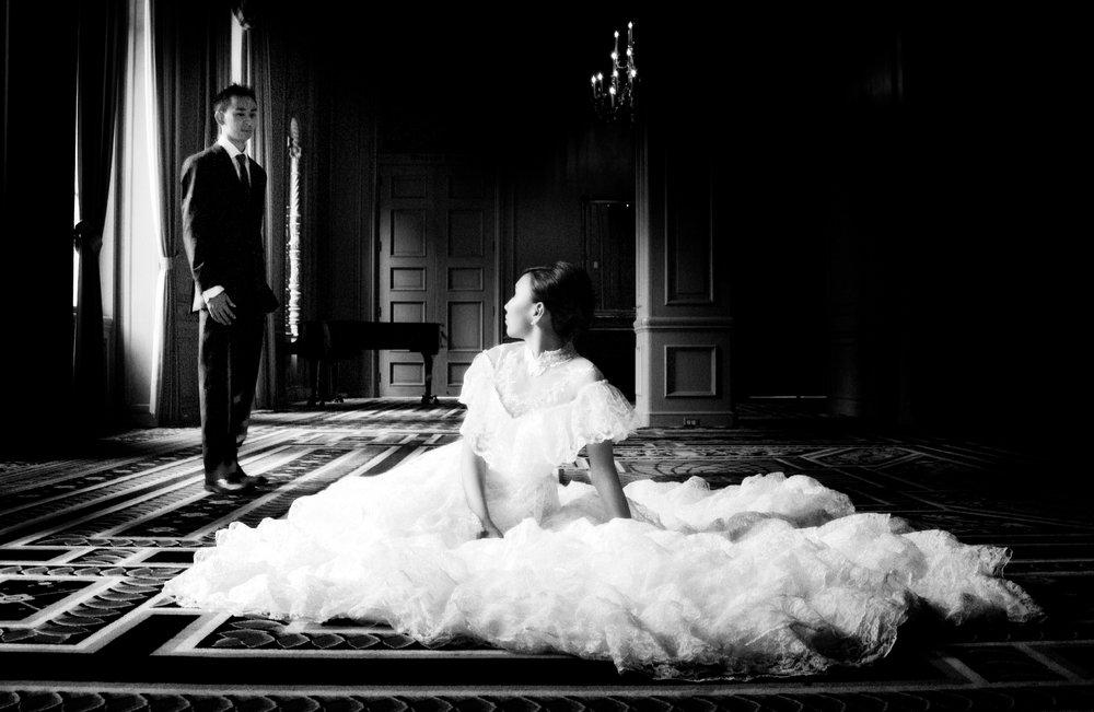 Wedding Couple at Sir Francis Drake Hotel