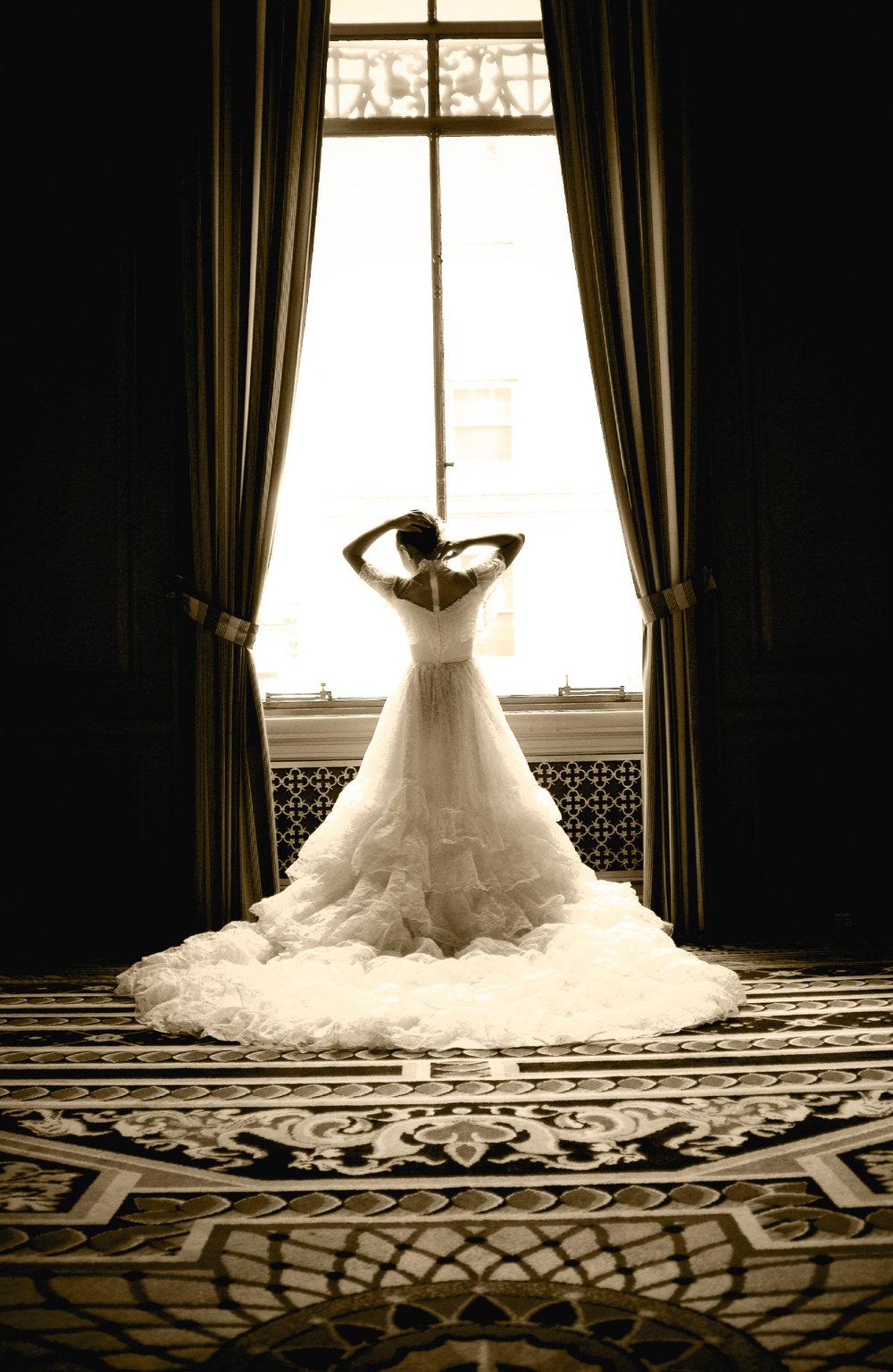 Bride at Sir Francisco Drake Hotel
