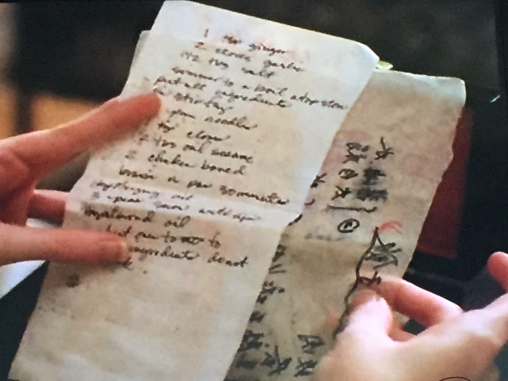The only recipe shown in the episode.