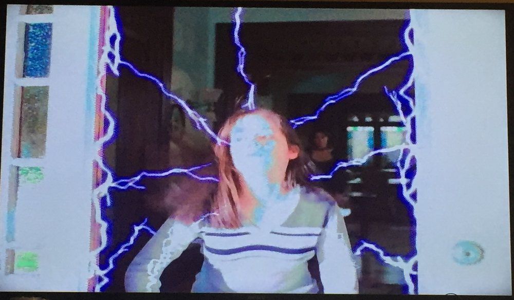 Piper gets hit with some electricity....