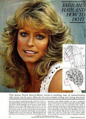 How to achieve that Farrah hairdo!