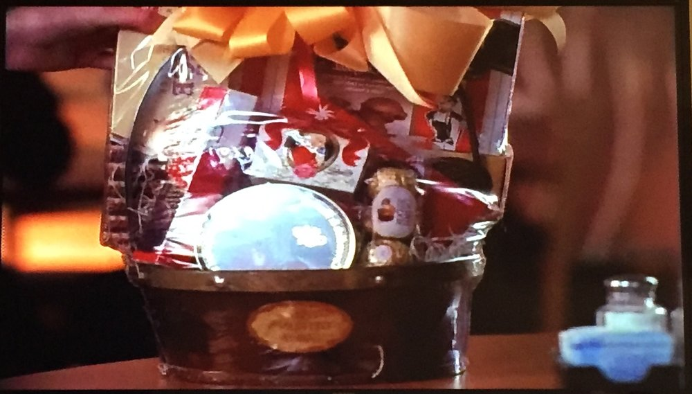 Prue's assistant gets a gift basket. She could probably use a raise...