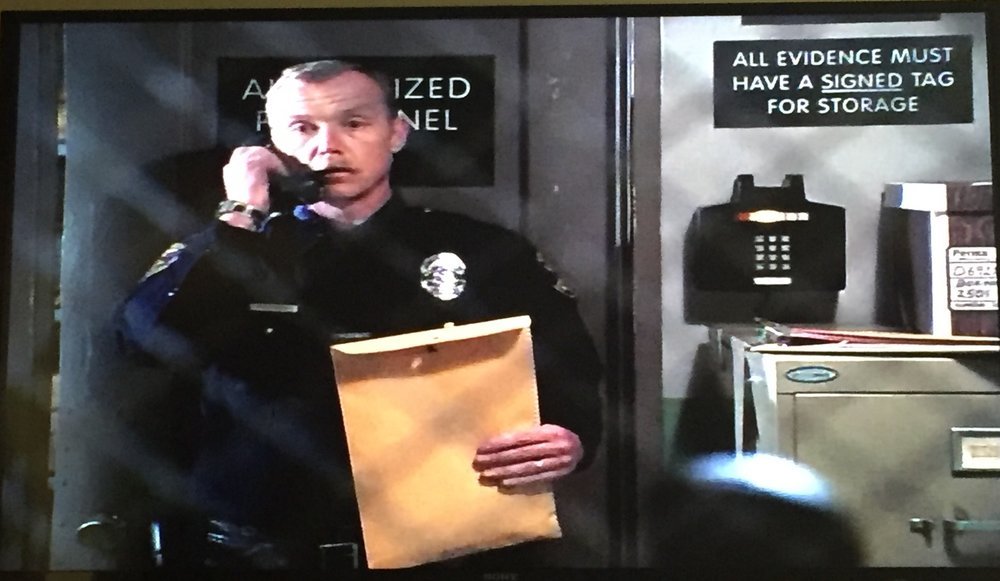 This cop is a snitch.