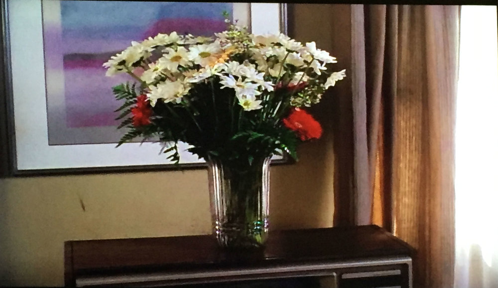 ...and sees flowers from Alec.