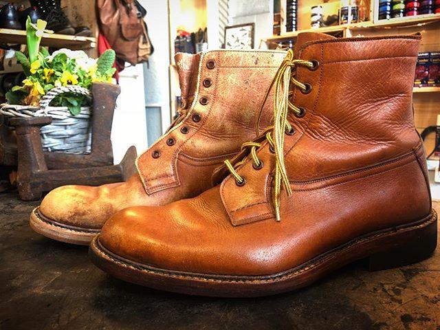 @lanouvellecordonnerie 💫Shoes need to eat too 👞🧡🍯 #Cordonnerie #Genève #shoes #cirage #shoeshine #entretien @saphir_official
