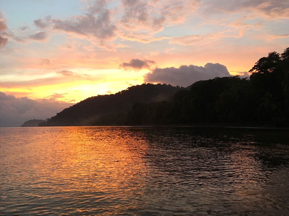 Sunset over Golfo Dulce