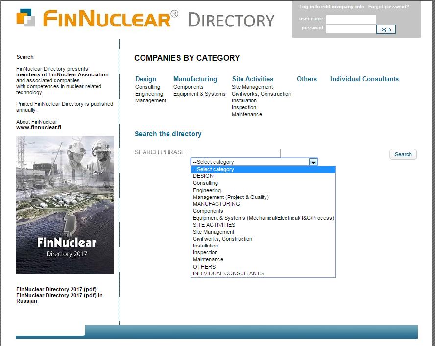 Ydintekniikan yrityshakemisto