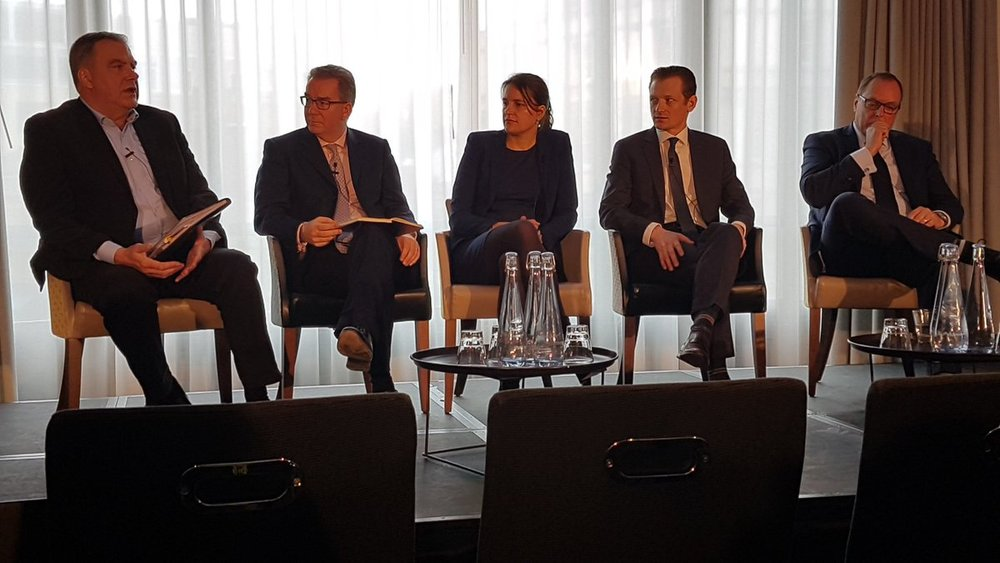 CEO Paul Ferris speaking at the NextGen Banking Conference in London