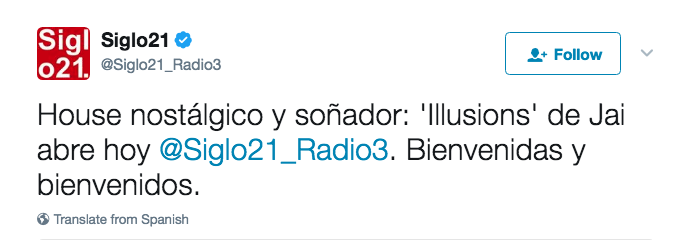 JAI @ Siglo 21 (Radio 3)