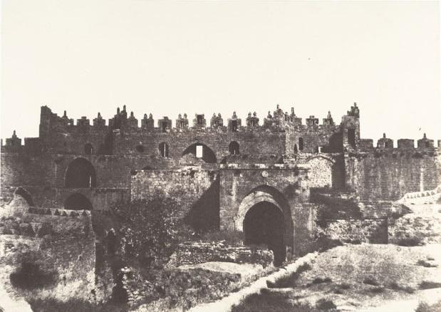 Auguste Salzmann 1854, Damascus Gate (Interior)