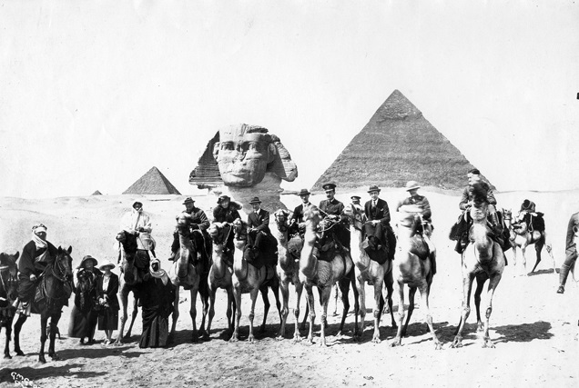 Cairo Conference 1921. Item F 3, Gertrude Bell Archive Newcastle University. Bell is the only woman on a camel.