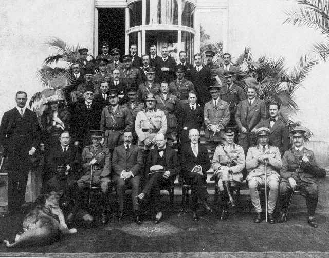 Cairo Conference 1921. Item F 5.1, Gertrude Bell Archive Newcastle University. Gertrude Bell is the only woman.
