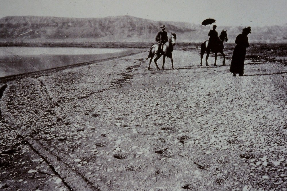 Gertrude Bell's Party at the Dead Sea 1900, A130, Gertrude Bell Archive Newcastle University.