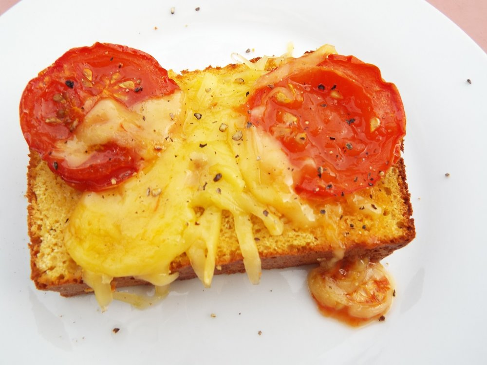 Vegan cheese toast