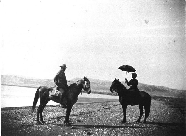 A557 'Dr and Mrs Rosen on horseback'