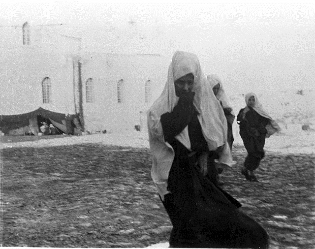 Bethlehem, Christmas Day 25th December 1899. 'Photographed the women in the streets'. Gertrude Bell.