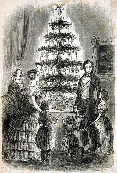 The iconic image of Victoria and Albert celebrating a German Christmas (Creative Commons)
