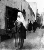 Gertrude Bell's Christmas in Bethlehem, 1899 - The monks gave us breakfast and the Rosens went off to a Lutheran service while I took a kavass and stood in the streets photographing the women